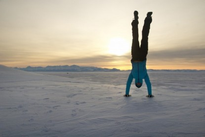 Down is the ultimate in insulation: it has the highest warmth-to-weight ratio and is highly compressible. A lightweight down jacket is a must in every outdoors woman's quiver. Here we are getting all lifestyle-y in the Patagonia Down Sweater Hoody on the sea ice of Antarctica.