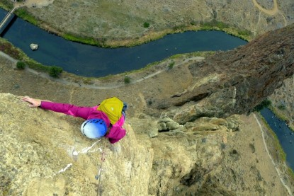 Testing the BD Bullet high above the Crooked River  Smith Rock State Park  OR.