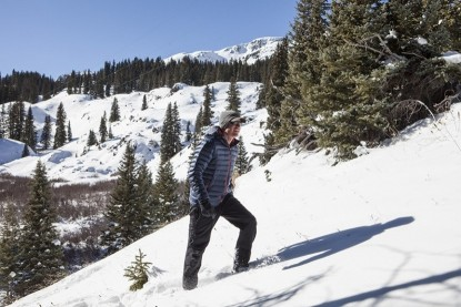 The five pairs of insulated winter hiking boots that we tested for this review are ideal choices for snowshoeing. Here we are testing in the San Juan Mountain high country.