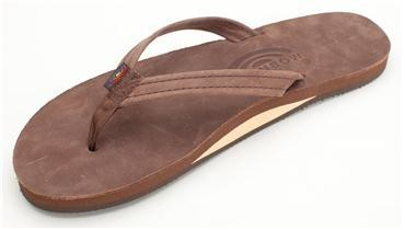 Rainbow Leather Single Layer Premier with Arch Support and Narrow Strap