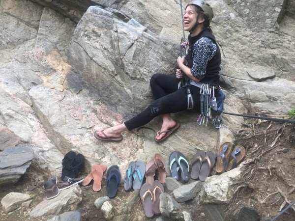 Next time you lower down from a tough climb or finish a brutal workout be sure you have a trusty and comfortable pair of flip flops waiting to embrace your tired feet. Or a bunch of them!