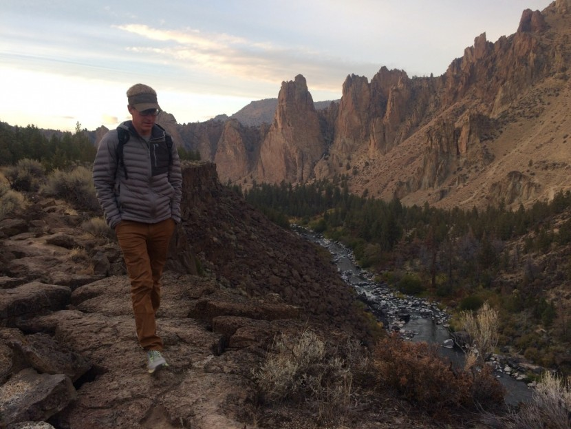 The Hardwear AP pants are a tight fitting and pretty stylish pant designed for all sorts of outdoor uses. Here we are testing them on a hike in Smith Rock State Park  OR.